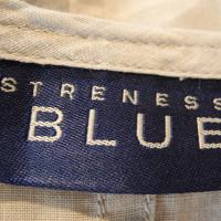 Strenesse Blue Linnen jurk in lichtgrijs