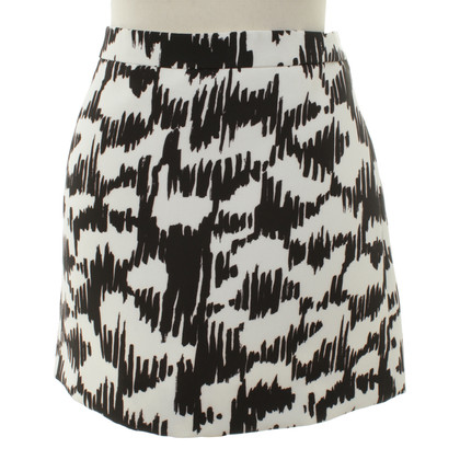 Balenciaga Mini skirt in black/white