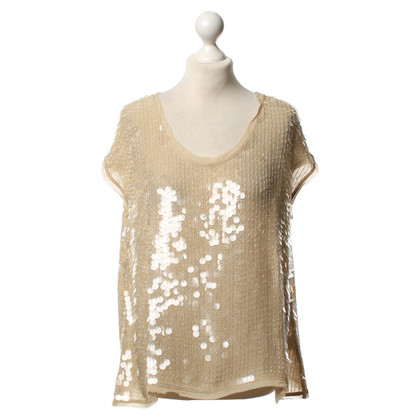 All Saints Top mit Pailletten