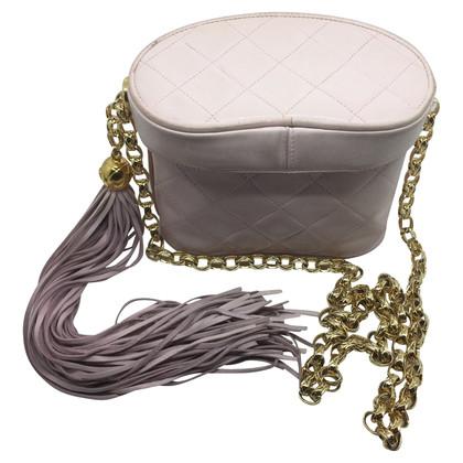 Chanel Secchiello chanel vintage in pelle rosa