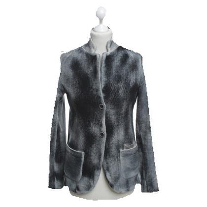 Avant Toi Blazer in Black / grey