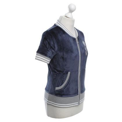 Bogner Sweatshirt jasje in donkerblauw