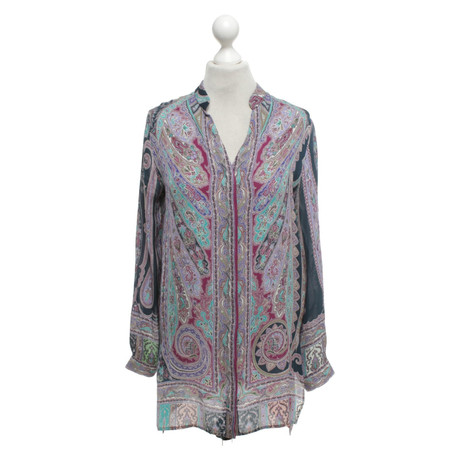 Etro Seidenbluse mit Muster Bunt / Muster