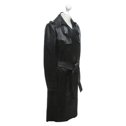 Gucci Leather coat in black