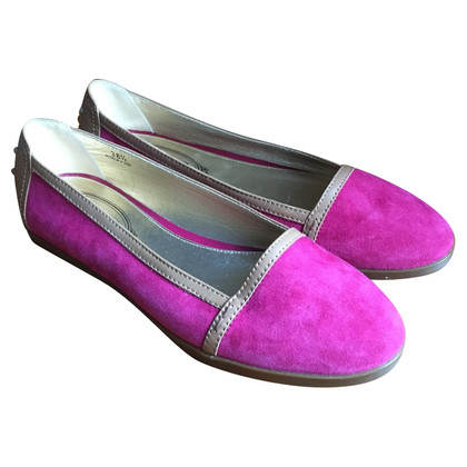 Tod's Suede loafers in Pink