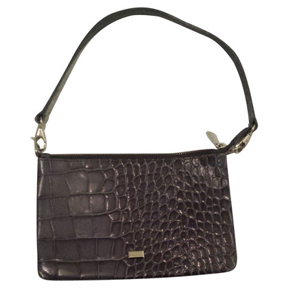 Coccinelle Shoulder bag with crocodile embossing