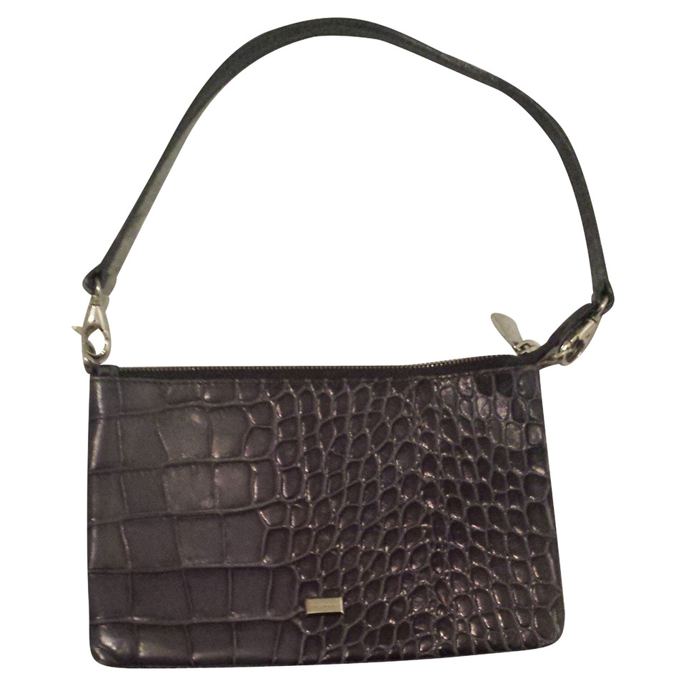 coccinelle shoulder bag with crocodile embossing buy second hand coccinelle shoulder bag with. Black Bedroom Furniture Sets. Home Design Ideas