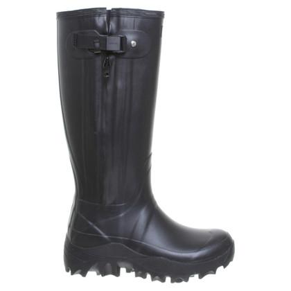 Hunter Rubber laarzen op zwart