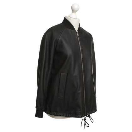 Cos Lederblouson in Schwarz