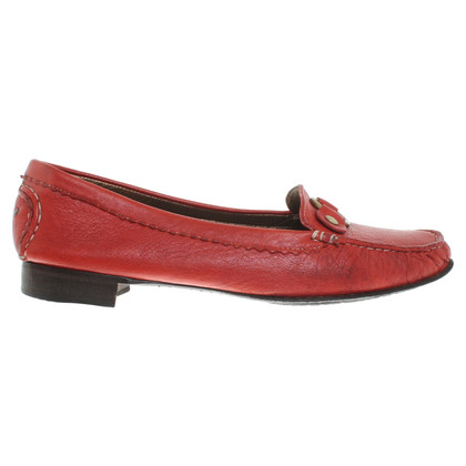 Escada Mocassins en rouge