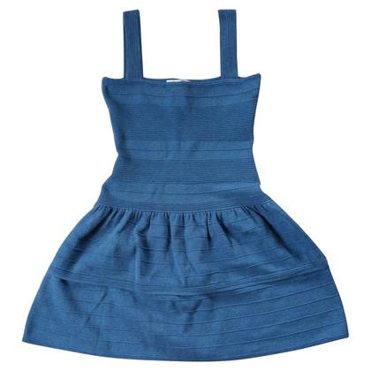 Maje Gebreide jurk in blauw