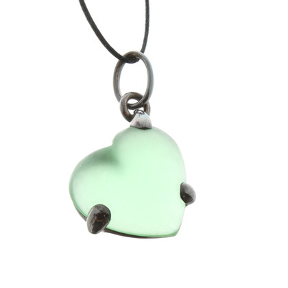 Pomellato Green heart pendant necklace