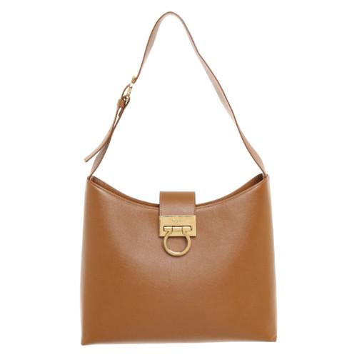 b409d20b35ca Salvatore Ferragamo Handbag in brown - Second Hand Salvatore ...