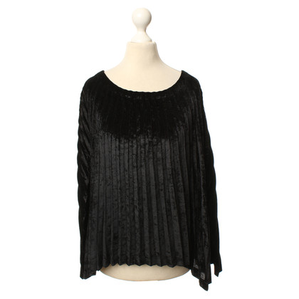 Issey Miyake Black pleated top