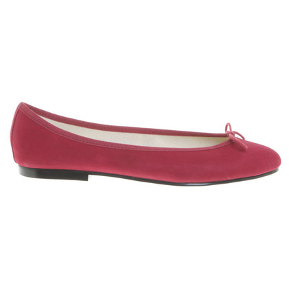 French Sole Ballerinas in red