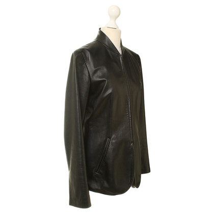 DKNY Leather jacket in black