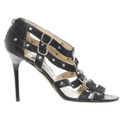 Jimmy Choo Klinknagel sandalen in zwart