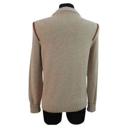 Bogner Cardigan with leather trim