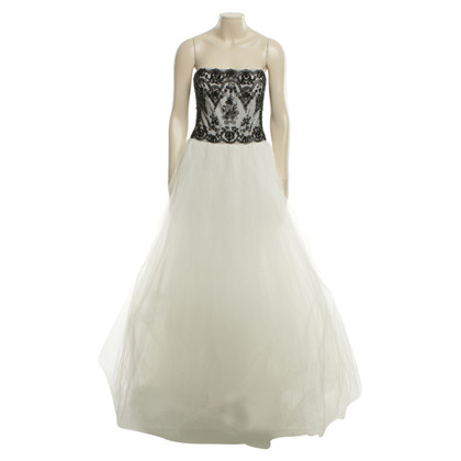 Marchesa Ball gown in white / black
