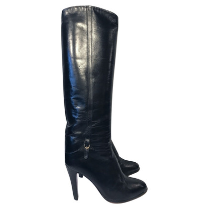 Russell & Bromley Black Leather Heeled Boots