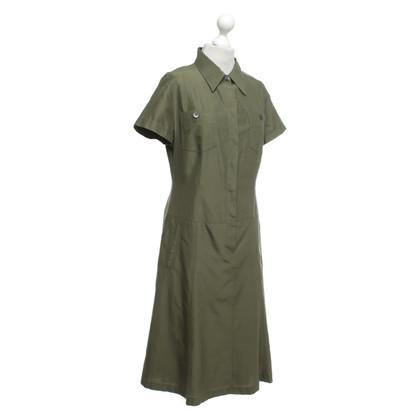 René Lezard Robe chemise olive