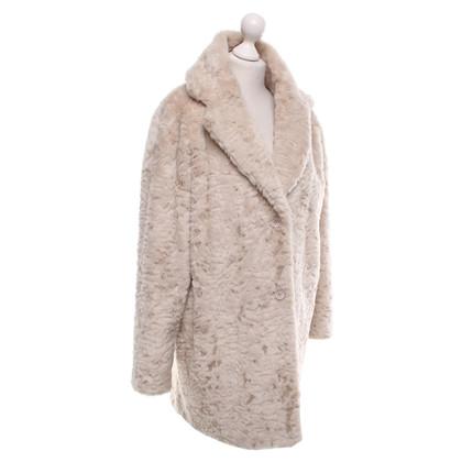Bash Faux fur coat in beige