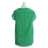 Miu Miu Blouse with dots in green