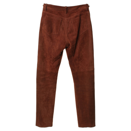 Hermès Leather pants in Brown