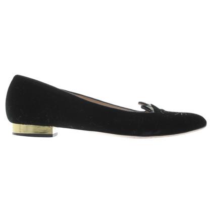 Charlotte Olympia Velvet slippers