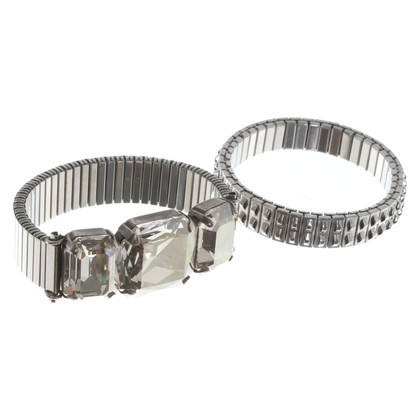 Isabel Marant Two silver-colored bracelets