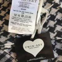 Twin-Set Simona Barbieri Linen scarf with embroidery
