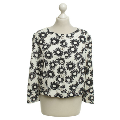 Marc Cain Short blazer with floral pattern