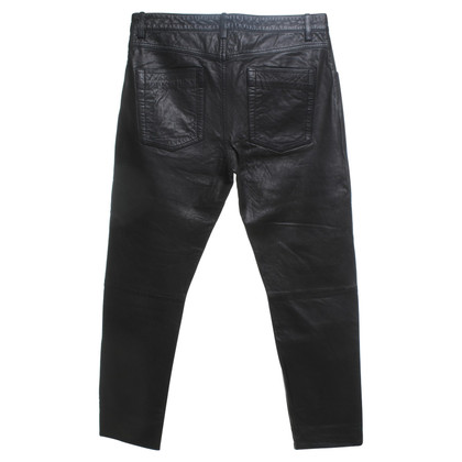 Isabel Marant Etoile Lamb leather pants in black