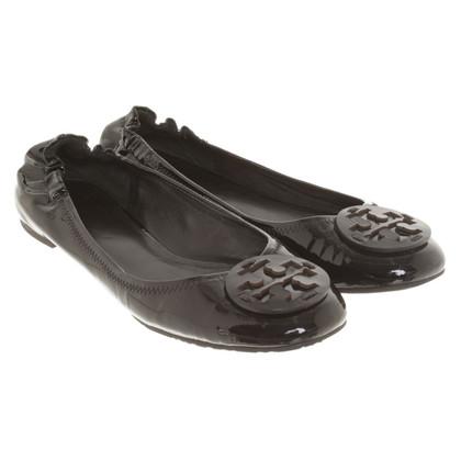 Tory Burch Ballerina's in zwart
