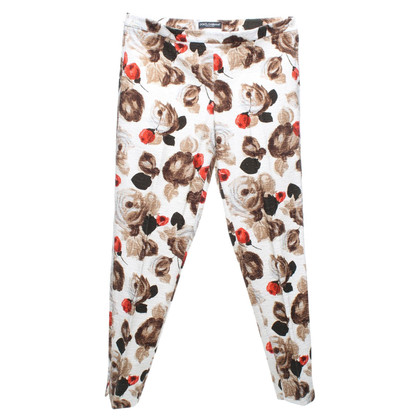 Dolce & Gabbana trousers floral pattern