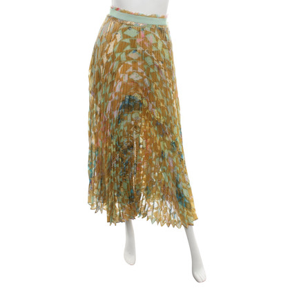 Roberto Cavalli Pleated skirt in multicolor