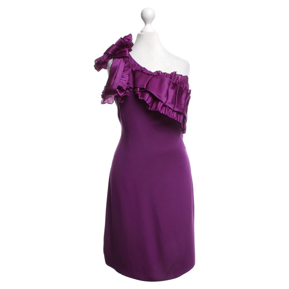 Marchesa vestito da cocktail in viola