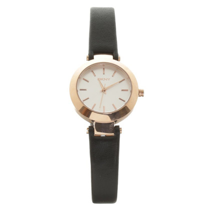 "DKNY ""Stanhope Watch Leather Black"""
