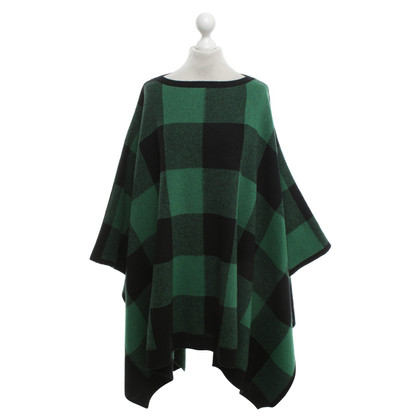 Stella McCartney Poncho with checked pattern