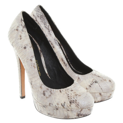 House of Harlow pelle di serpente pumps