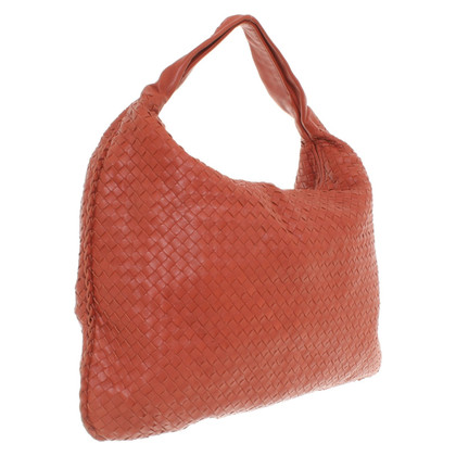 "Bottega Veneta ""Maxi Veneta Bag"" in rust red"