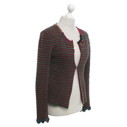 Prada Blazer con i modelli di lavoro a maglia