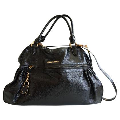 Miu Miu Handbag in black patent leather