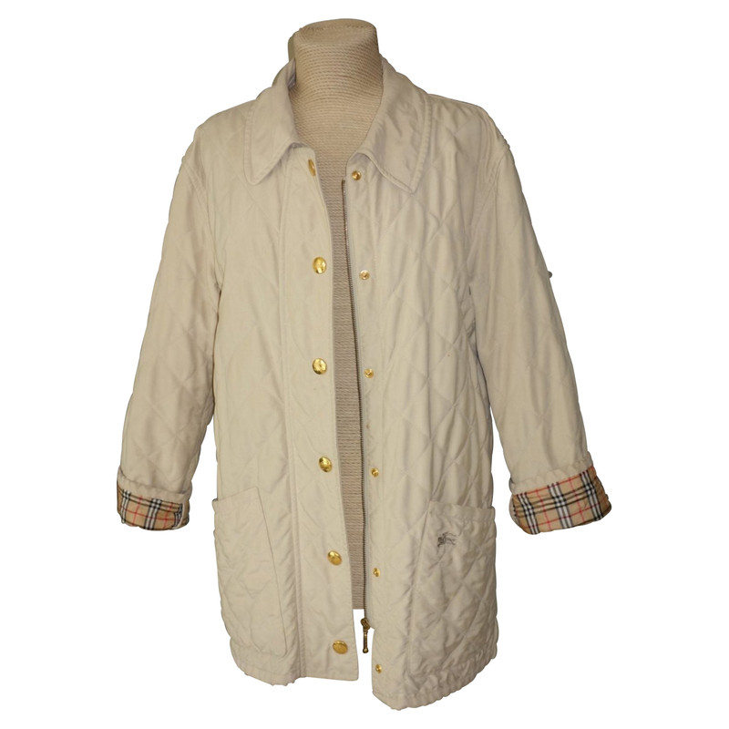 Burberry JackeMantel aus Baumwolle in Beige Second Hand