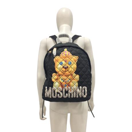 Moschino Rucksack mit Print Schwarz Günstig Kaufen Websites Billig Verkauf Suchen TGgkwjt