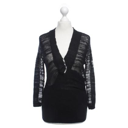 Armani Gebreide trui zwart