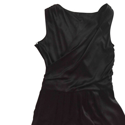 Moschino Cheap and Chic Schwarzes Seidenkleid