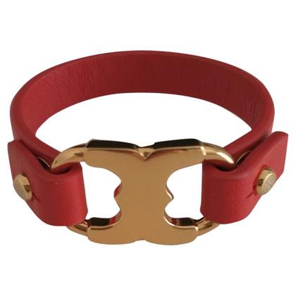 Tory Burch braccialetto in pelle in rosso