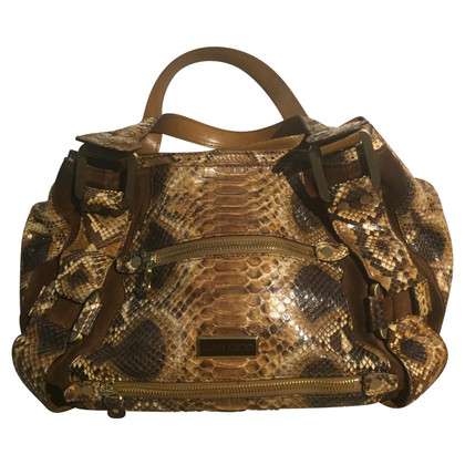 Jimmy Choo Python leather shoulder bag