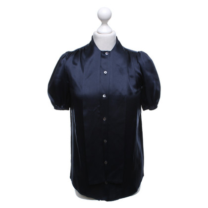 Dolce & Gabbana Silk blouse in dark blue